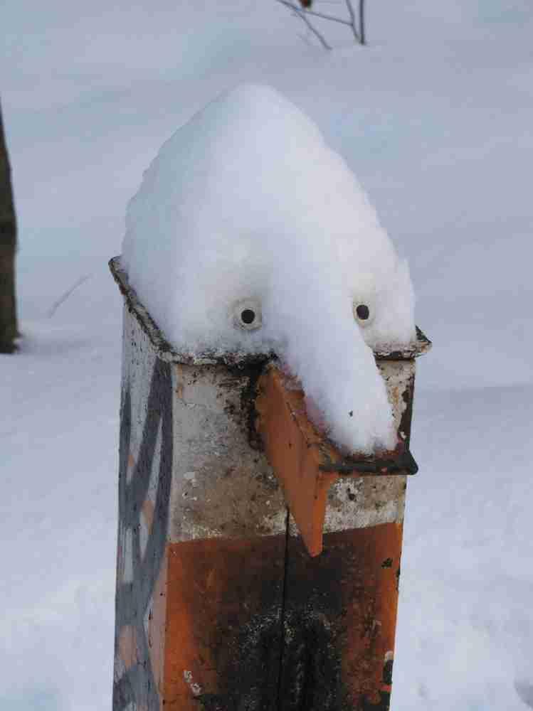 Έργα τέχνης με χιόνι και πάγο