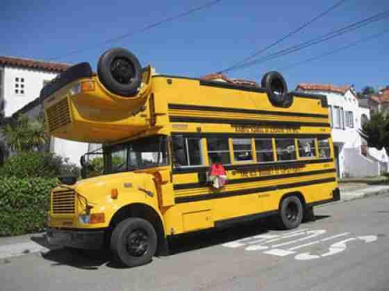 Upside Down Bus