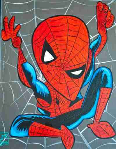 spiderman-picasso-drawing