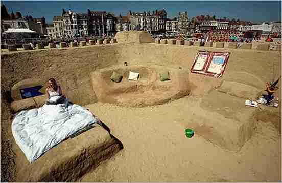 Ξενοδοχείο χτισμένο απο άμμο