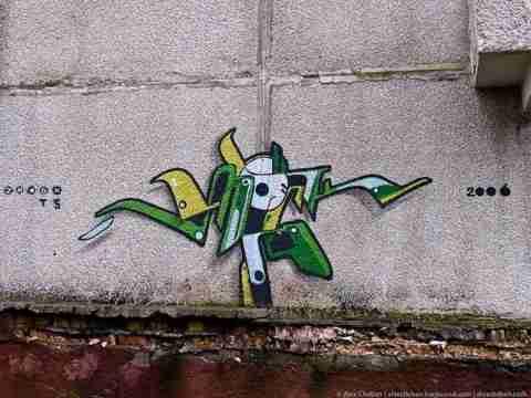 Graffiti στην έρημη πόλη