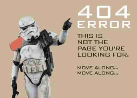 Αστεία μηνύματα σφαλμάτων 404
