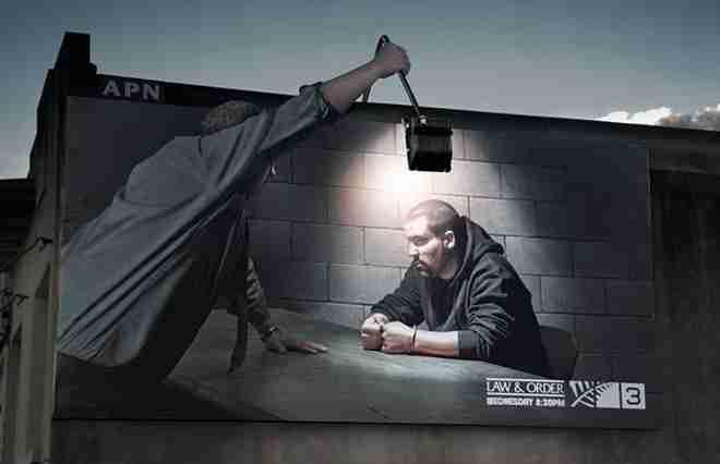 """Διαφήμιση για την τηλεοπτική σειρά """"Law And Order"""""""