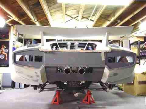 home made lambo 11 Έφτιαξε την δική του Lamborghini