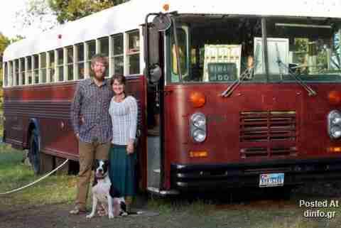 Από σχολικό λεωφορείο.. σπίτι!