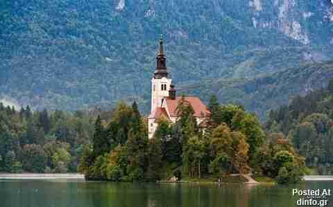 Το νησί Bled στη Σλοβενία