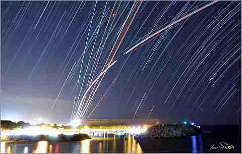 Νυχτερινός ουρανός από τον Luc Perrot