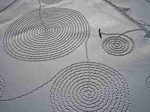 Ζωγραφίζοντας στο χιόνι