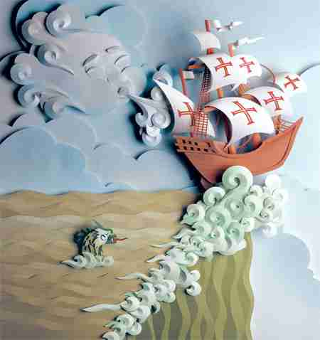 Η υπέροχη τέχνη από χαρτί του Carlos Meira
