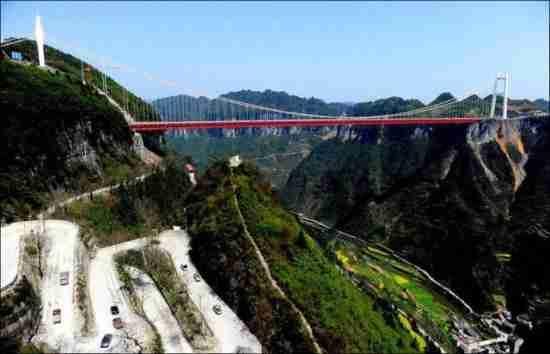 Η κίνα κατασκεύασε την μεγαλύτερη κρεμαστή γέφυρα
