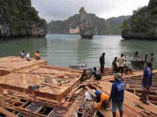 Ο πλωτός κινηματογράφος της Ταϊλάνδης