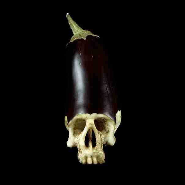 Κρανία από φρούτα του Dimitri Tsykalov