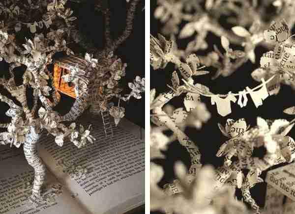 Τα παραμυθένια γλυπτά από βιβλία της Su Blackwell