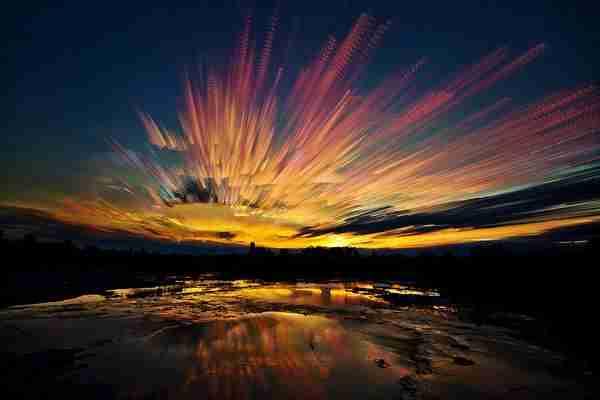 Ο ουρανός αλλάζει χρώματα στις φωτογραφίες του Matt Molloy