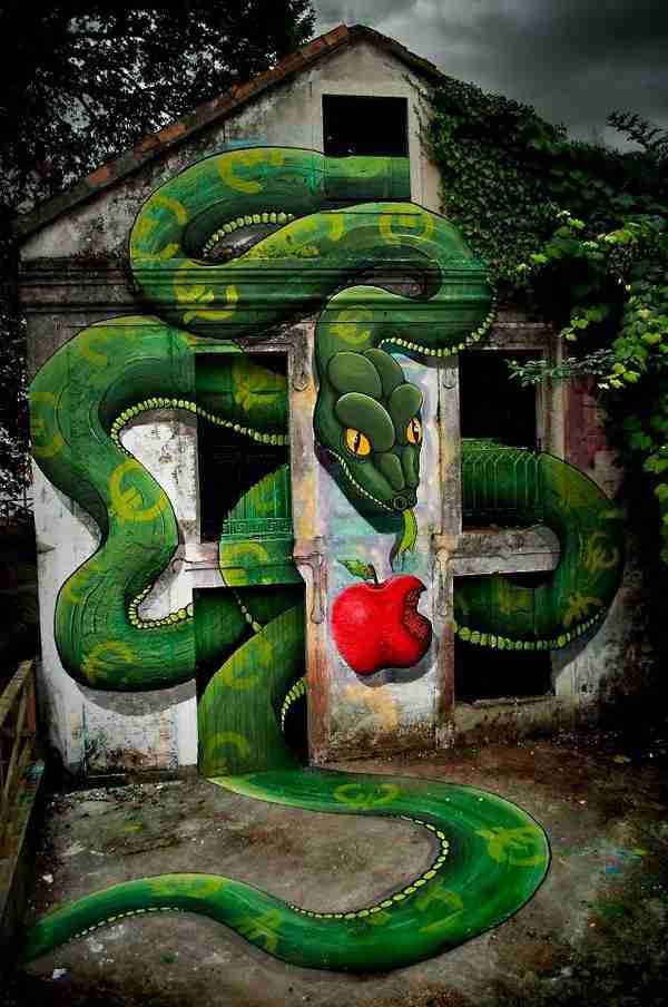 12 πραγματικά έξυπνα έργα τέχνης του δρόμου