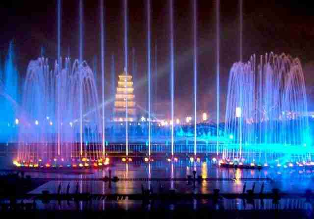 Big Wild Goose Pagoda Fountains – Xian City, China
