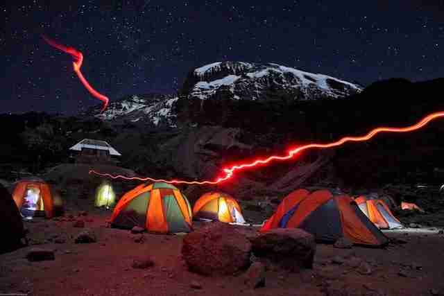 Barranco Camp at Night, Kilimanjaro