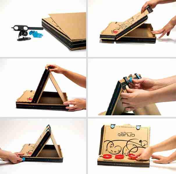 Pizza Box Easel 2