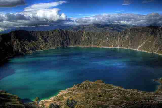 Lake Quilotoa Ecuadorian Andes.