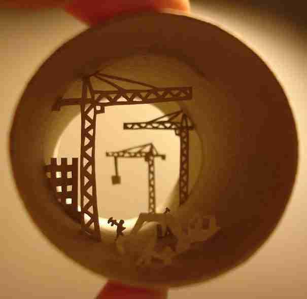 Περισσότερα έργα τέχνης σε χαρτί τουαλέτας από την Anastassia Elias