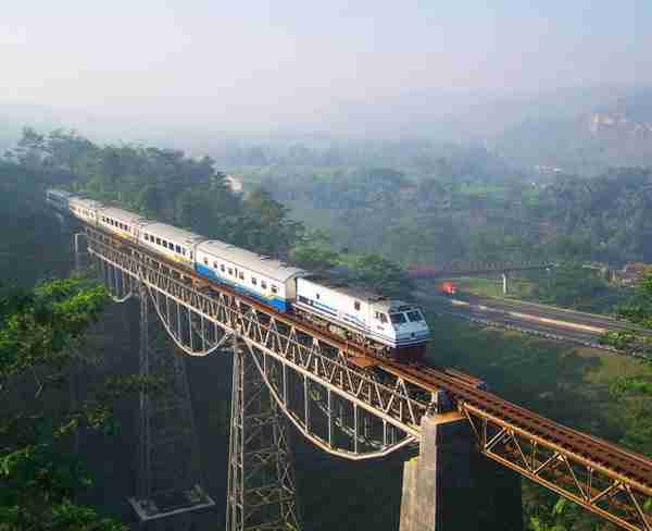 Argo Gede Train Railroad, Indonesia2