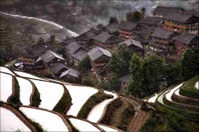 Hidden mountain village in southern China
