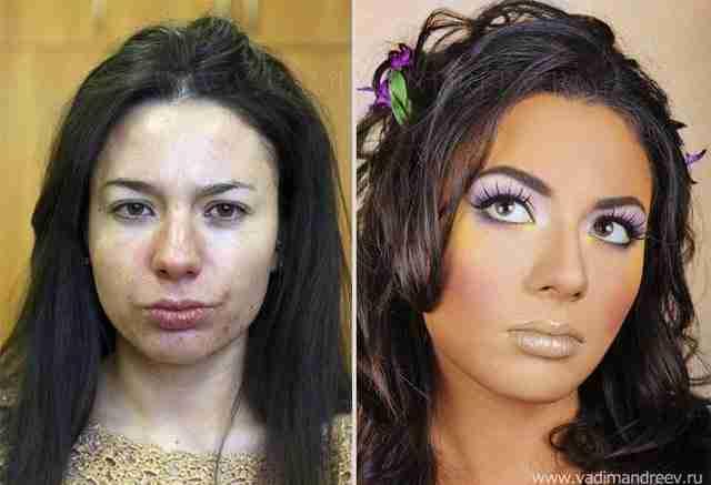 Φωτογραφίες πριν και μετά το μακιγιάζ