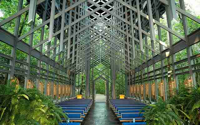 Thorncrown Chapel, το γυάλινο παρεκκλήσι