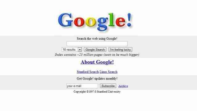 Η εμφάνιση των μεγαλύτερων ιστοσελίδων στο ξεκίνημα τους