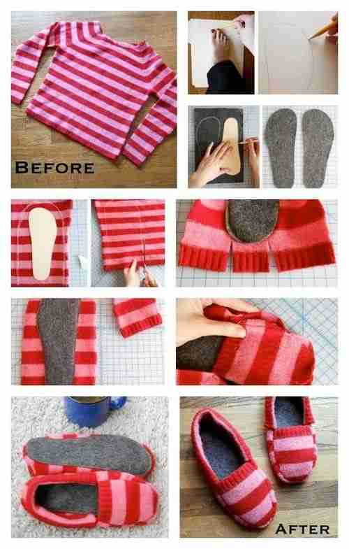 Diaforetiko.gr : diy sweater slippers δείτε 20 απίστευτα
