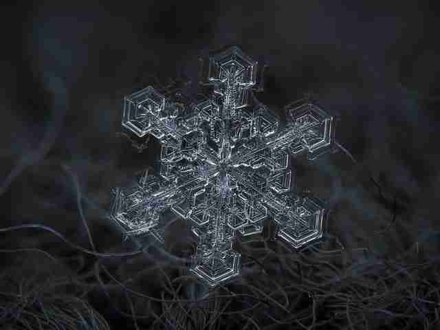 dinfo.gr - Έτσι μοιάζει το χιόνι από πάρα πολύ κοντά