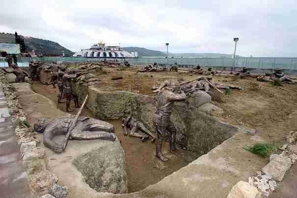«Σκηνή από το Παγκόσμιο Πόλεμο», Eceabat, Τουρκία
