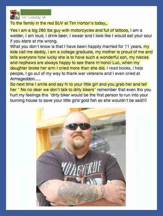Μια μητέρα έκρινε έναν άντρα από την εμφάνισή του. Η απάντησή του ήταν αποστομωτική!