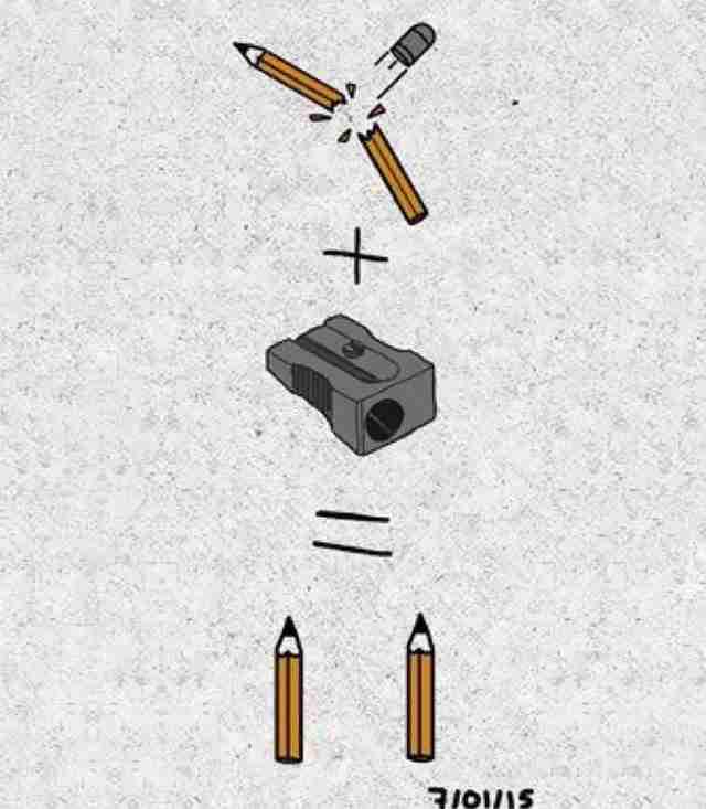 Ακόμη και αν ένα μολύβι σπάσει εμφανίζονται άλλα δυο
