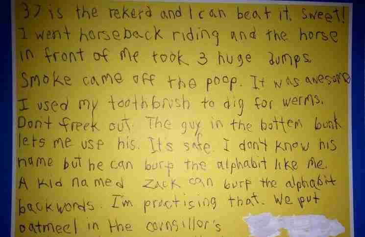 Ένας 8χρονος έστειλε γράμμα στη μαμά του από την κατασκήνωση. Είναι ότι πιο αστείο θα διαβάσετε σήμερα