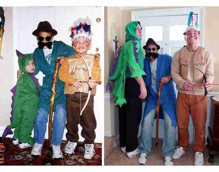 Τρία αδέρφια αναδημιούργησαν παλιές τους φωτογραφίες. Το αποτέλεσμα είναι απολαυστικό