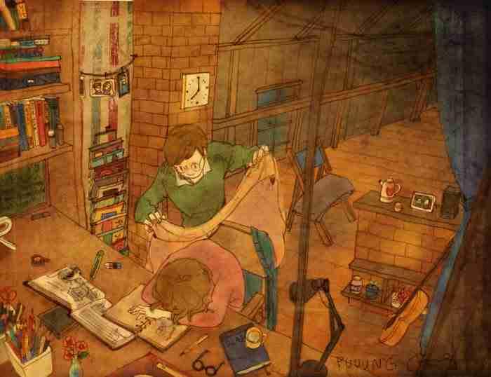 Τι είναι η αγάπη; Ένας καλλιτέχνης βρήκε το τρόπο να την ζωγραφίσει!