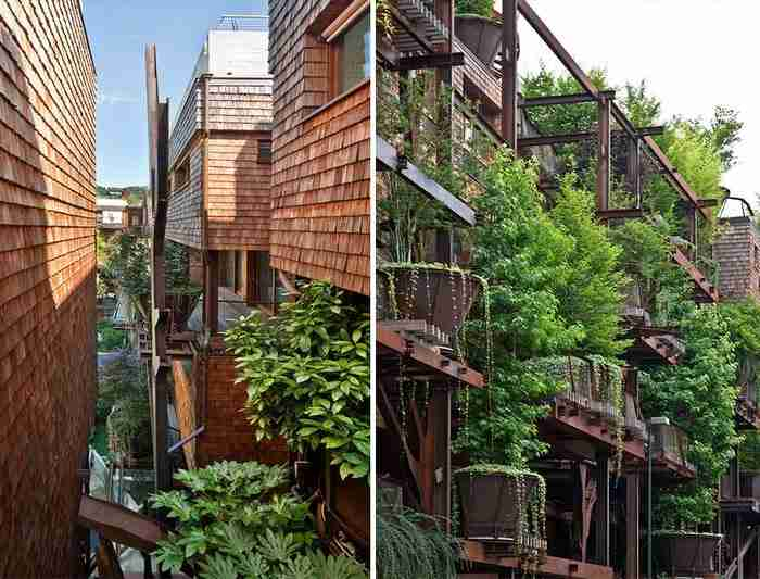 Και.. μάλλον το κατάφερε! Ο Pia δημιούργησε ένα καταπράσινο συγκρότημα διαμερισμάτων πέντε ορόφων, στο Τορίνο της Ιταλίας, που επιτρέπει στους ενοίκους να αισθάνονται ότι ζουν σε ένα γιγάντιο δεντρόσπιτο!