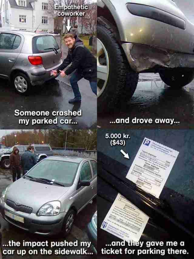 Αυτός ο οδηγός που το μόνο που έκανε ήταν να παρκάρει το αυτοκίνητο του.