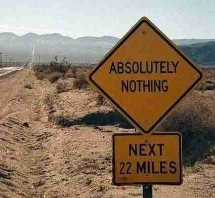 Να και ένας δρόμος που οδηγεί στο απόλυτο τίποτα! Χρήσιμο να το γνωρίζει κανείς!