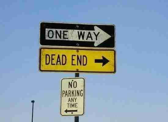 Ο μοναδικός δρόμος είναι το αδιέξοδο. Είναι σαφές!