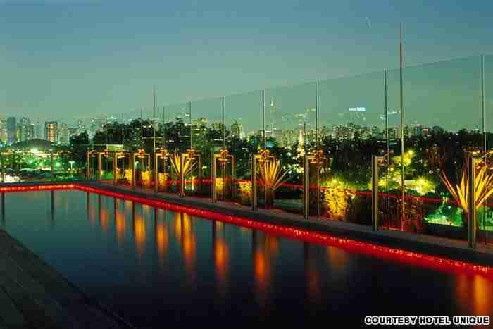 Η πισίνα του ξενοδοχείου Skye στο Σάο Πάολο, Βραζιλία