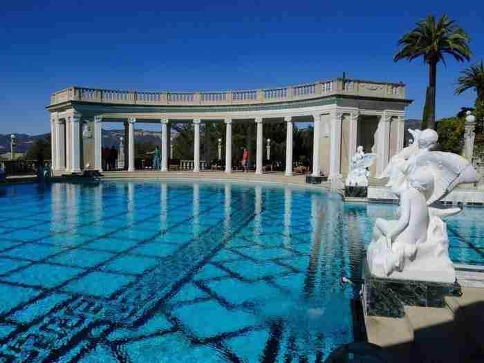 Η πισίνα του Ποσειδώνα στο Κάστρο Hearst San Simeon, Καλιφόρνια