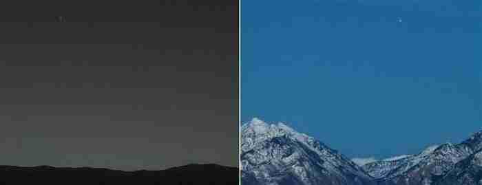 Η θέα από τον Άρη στη Γη αλλά και από τη Γη στον Άρη.
