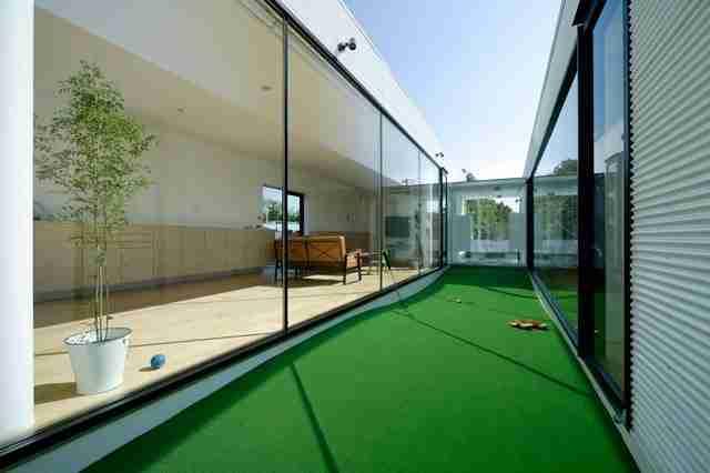 Ένα γήπεδο γκολφ