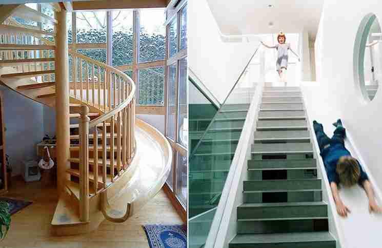 Σκάλες με τσουλήθρα.