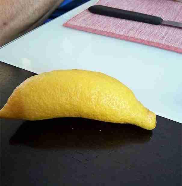 Ένα λεμόνι που μοιάζει με μπανάνα