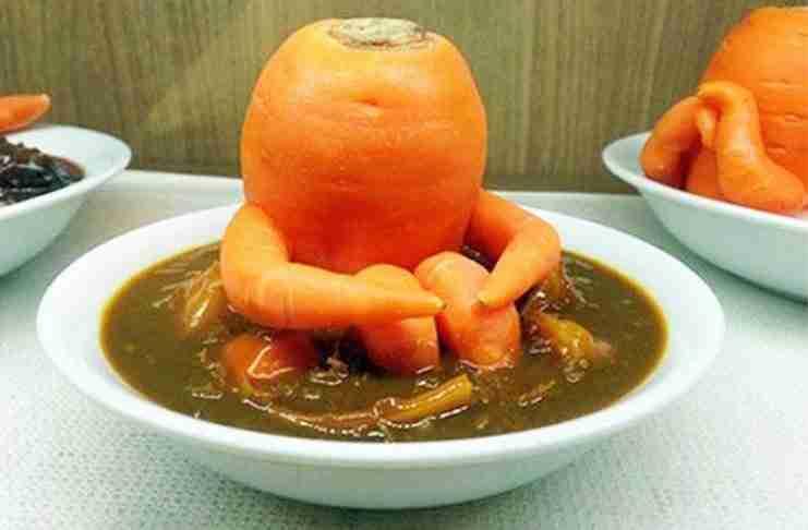 Ένα καρότο που κάθεται..