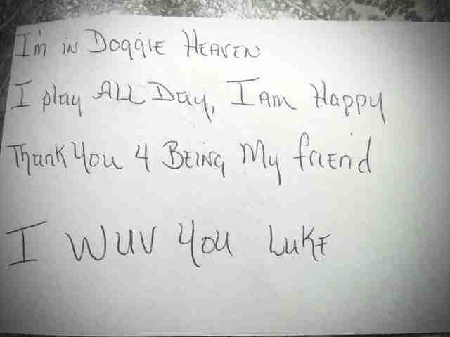 Ένας τρίχρονος έγραψε ένα γράμμα στο νεκρό του σκύλο του. Λίγες μέρες μετά έλαβε απάντηση..