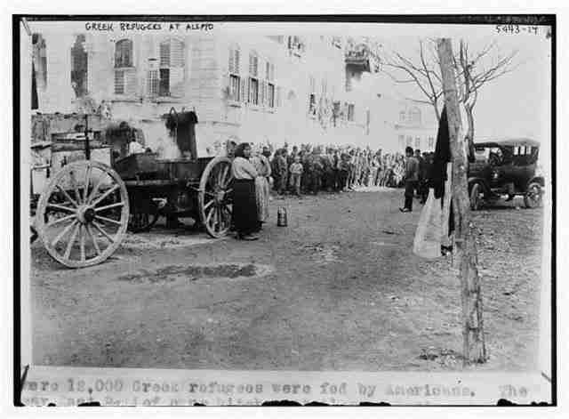 Έλληνες πρόσφυγες στο Χαλέπι κατά τη φυγή τους από Τουρκιά σε Συριά 1919